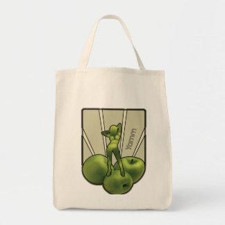 Apple Woman Grocery Bag