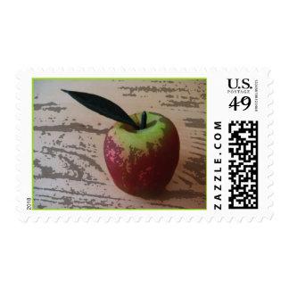 Apple Wood Cut Stamp