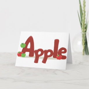Save 60 on apple word greeting cards limited time only zazzle apple word greeting cards m4hsunfo