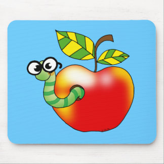 Apple & Worm, back to school Mouse Pad