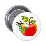 Apple & Worm, back to school Pin