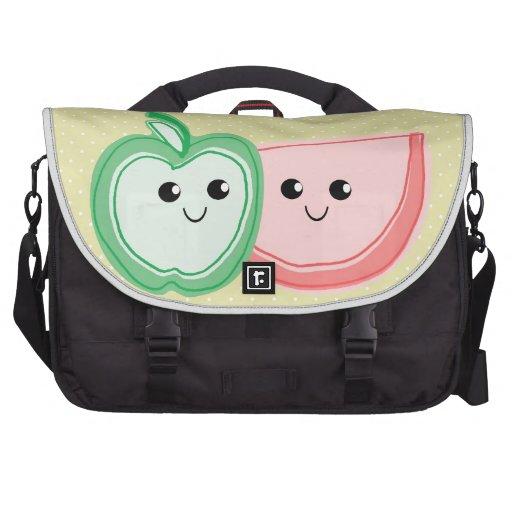 Apple y amigos lindos de la sandía bolsas de ordenador