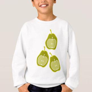 Apple y arte del Doodle de las peras Sudadera