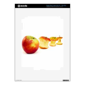 Apple y corazones de la manzana aislados en blanco iPad 3 pegatina skin
