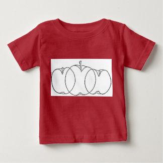 Apple y dibujos lineales del culturista de la camisas