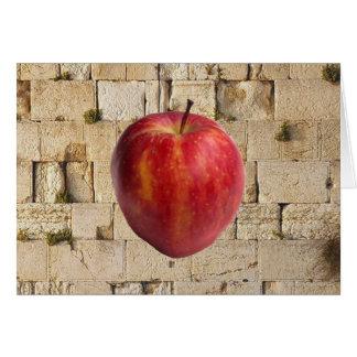 Apple y HaKotel (la pared occidental) Tarjeta De Felicitación