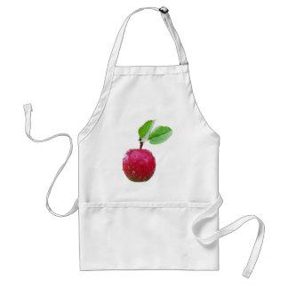 Apple y hojas rojos delantal