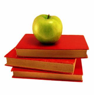 Apple y libros esculturas fotográficas