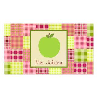 Apple y Madras verdes inspiraron al profesor de la Tarjetas Personales