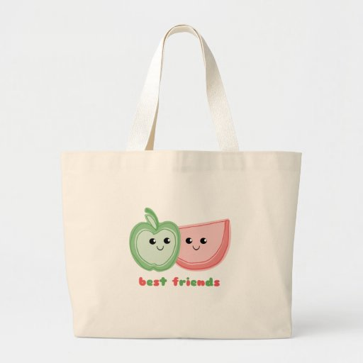 Apple y mejores amigos lindos de la sandía bolsa