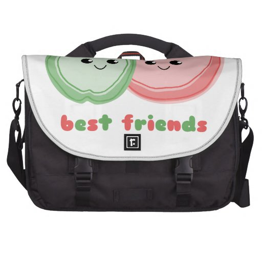Apple y mejores amigos lindos de la sandía bolsas para ordenador