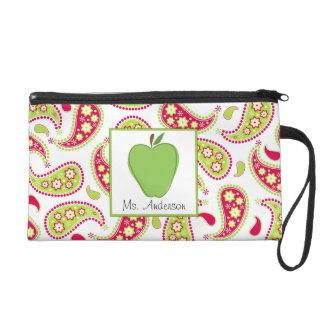 Apple y mitón verdes de Paisley para los