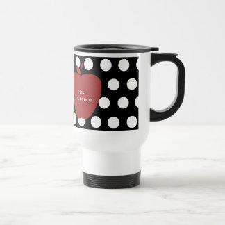Apple y profesor rojos del lunar tazas de café