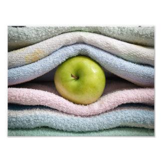 Apple y toallas impresión fotográfica