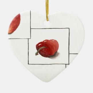 Apple y transformación de los corazones ornaments para arbol de navidad