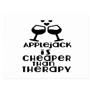 Applejack Is Cheaper Than Therapy Postcard
