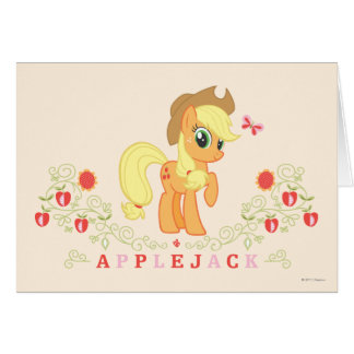 Applejack Posing Card