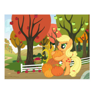 Applejack with Pumpkins Postcard