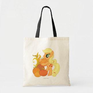Applejack with Pumpkins Tote Bag
