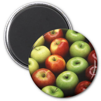 Apples 2 Inch Round Magnet