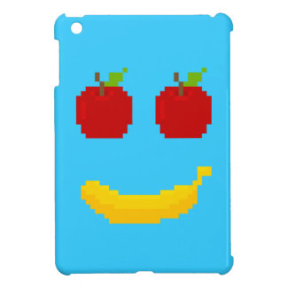 Apples and Banana Pixel Art Cover For The iPad Mini