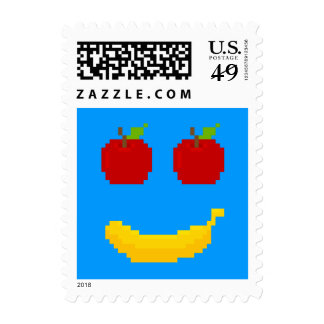 Apples and Banana Pixel Art Stamps
