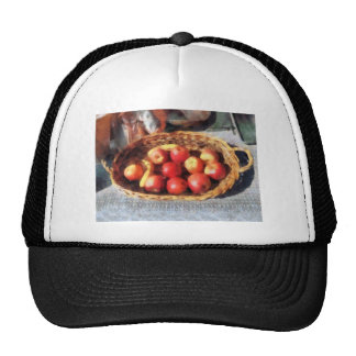 Apples and Bananas in Basket Hats
