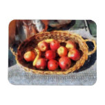 Apples and Bananas in Basket Rectangular Magnet
