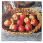 Apples and Bananas in Basket Tiles