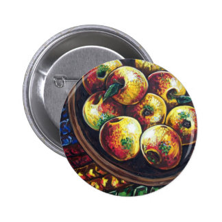apples and braided rug pins