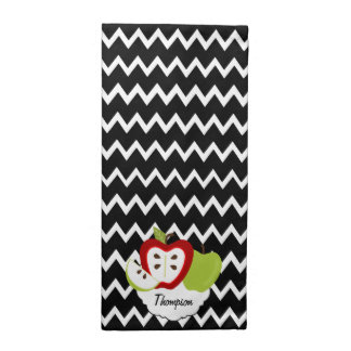 Apples and Chevrons Personalized Napkins