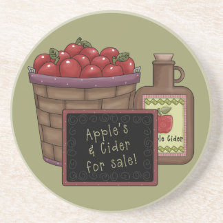 Apples and Cider Coaster