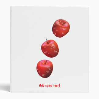 Apples and Drops Binder