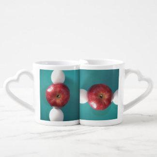 Apples and eggs lovers joy coffee mug set