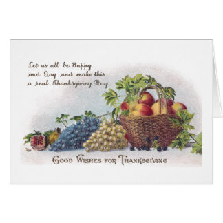 Apples and Grapes Vintage Thanksgiving Card