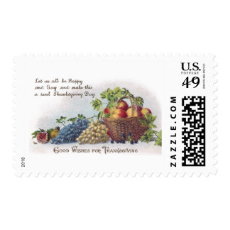 Apples and Grapes Vintage Thanksgiving Postage