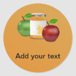 Apples and Honey Classic Round Sticker