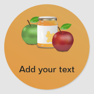 Apples and Honey Round Sticker