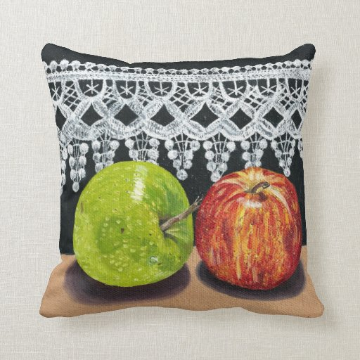 Apples and Lace Pillows