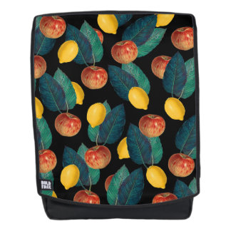 apples and lemons black backpack