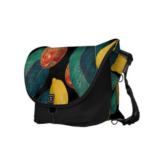 apples and lemons black courier bag