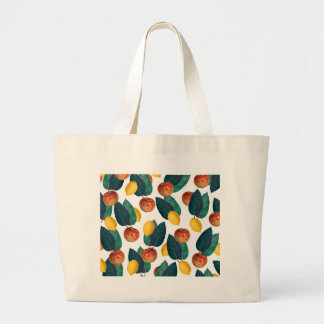Apples And Lemons Large Tote Bag