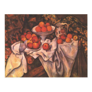 Apples and Oranges by Paul Cezanne (1839-1906) Postcard