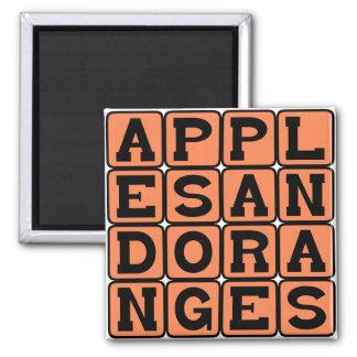 Apples and Oranges, Comparison Fridge Magnet