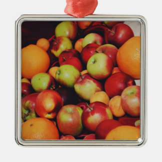 Apples and oranges christmas tree ornaments