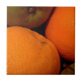 Apples and Oranges Small Square Tile