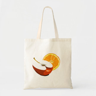 Apples and Oranges tote Bags