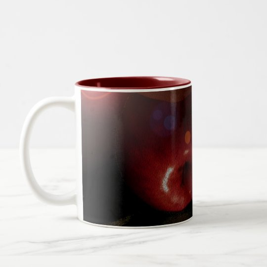 Apples and Orbs Two-Tone Coffee Mug