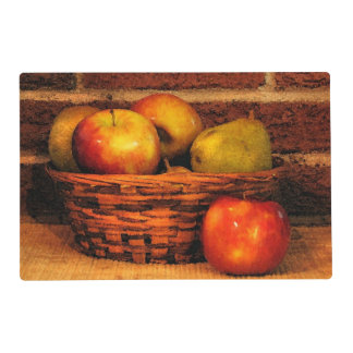 Apples and Pears Laminated Placemat
