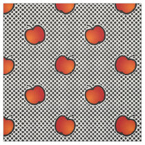 apples and polka dots cute patterns fabric